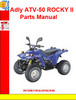 Thumbnail Adly ATV-50 ROCKY II  Parts Manual