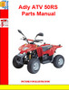 Thumbnail Adly ATV 50RS Parts Manual
