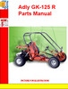 Thumbnail Adly GK-125 R Parts Manual