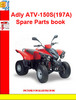 Thumbnail Adly ATV-150S(197A) Spare Parts book