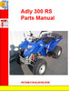 Thumbnail Adly ATV-300 RS Parts Manual