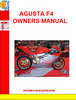 Agusta F4 ORO Owners Manual