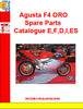 Thumbnail Agusta F4 ORO Spare Parts Catalogue E,F,D,I,ES