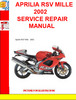 Thumbnail APRILIA RSV MILLE 2002 SERVICE REPAIR MANUAL