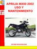 Thumbnail APRILIA MX50 2002 USO Y MANTENIMIENTO