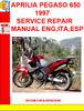 Thumbnail APRILIA PEGASO 650 1997 SERVICE REPAIR MANUAL ENG,ITA,ESP