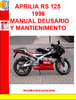 Thumbnail APRILIA RS 125 1998 MANUAL DE USARIO Y MANTIENIMENTO