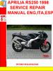 Thumbnail APRILIA RS250 1998 SERVICE REPAIR MANUAL ENG,ITA,ESP