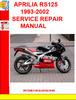 Thumbnail APRILIA RS125 1993-2002 SERVICE REPAIR MANUAL