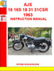 Thumbnail AJS 16 16S 18 31 31CSR 1963 INSTRUCTION MANUAL