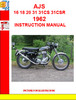 Thumbnail AJS 16 18 20 31 31CS 31CSR 1962 INSTRUCTION MANUAL