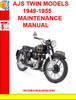 Thumbnail AJS TWIN MODELS 1949-1955 MAINTENANCE MANUAL