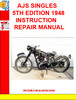 Thumbnail AJS SINGLES 5TH EDITION 1948  INSTRUCTION REPAIR MANUAL