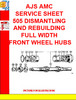 Thumbnail AJS AMC SERVICE SHEET 505 DISMANTLING AND REBUILDING FULL WI