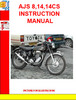 Thumbnail AJS 8,14,14CS INSTRUCTION MANUAL