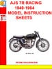Thumbnail AJS 7R RACING 1949-1964 MODEL INSTRUCTION SHEETS