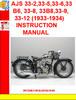 Thumbnail AJS 33-2,33-5,33-6,33 B6, 33-8, 33B8,33-9,33-12 (1933-1934)
