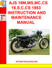 Thumbnail AJS 16M,MS,MC,CS 18,S,C,CS 1953 INSTRUCTION AND MAINTENANCE