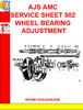 Thumbnail AJS  AMC SERVICE SHEET 503 DISMANTLING AND REBUILDING  FULL