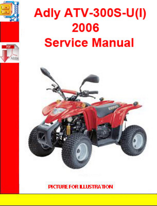 Product picture Adly ATV-300S-U(I) 2006 Service Manual
