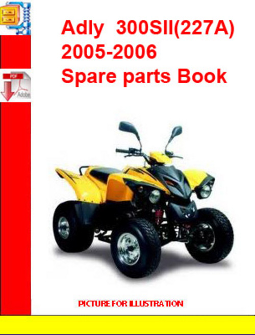 Product picture Adly  ATV-300SII(227A) 2005-2006 Spare parts Book