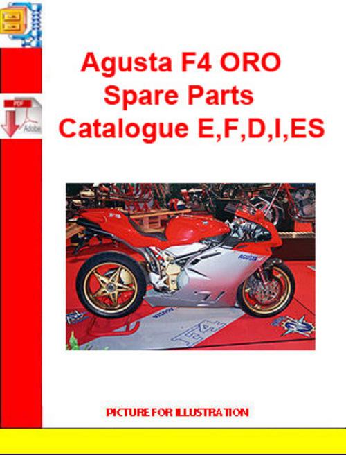 Product picture Agusta F4 ORO Spare Parts Catalogue E,F,D,I,ES